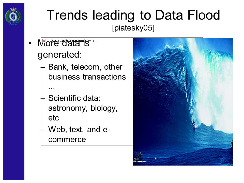 Trends leading to Data Flood [piatesky05]
